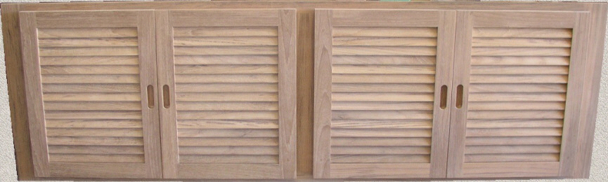 4-Louver Doors - Common Frame